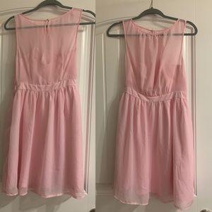 Light Pink Dress, knee length